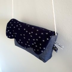 Sac besace fille etoiles