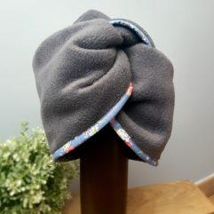 bonnet turban artisanal fleur