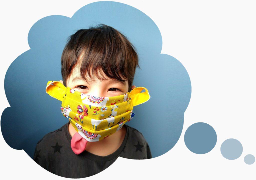 acheter masque enfant tissu